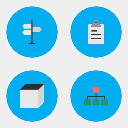 要素構造、クリップボード、広場、その他類義語クリップボードをグラフ化し、意思決定します。 単純なビジネス アイコンのベクター イラスト セ
