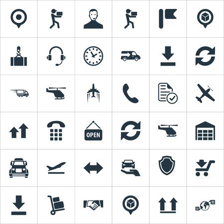 Elementen richting pijlen, interval, boven- en andere synoniemen, aanplakbiljet en bagage.