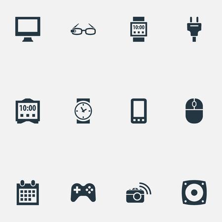 Illustration Set Of Simple Web Icons. Illustration