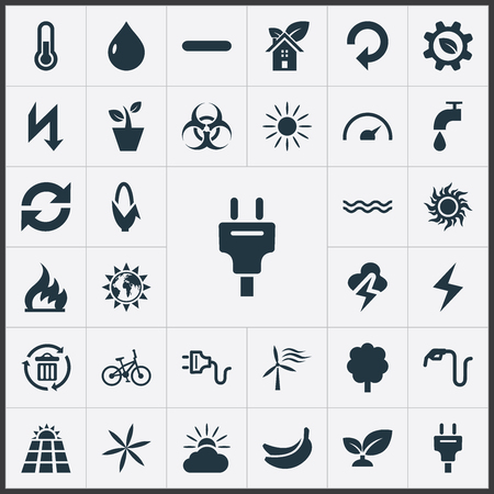Elements Negative, Maize, Thunderbolt And Other Synonyms Recycle, Reuse And Banana.