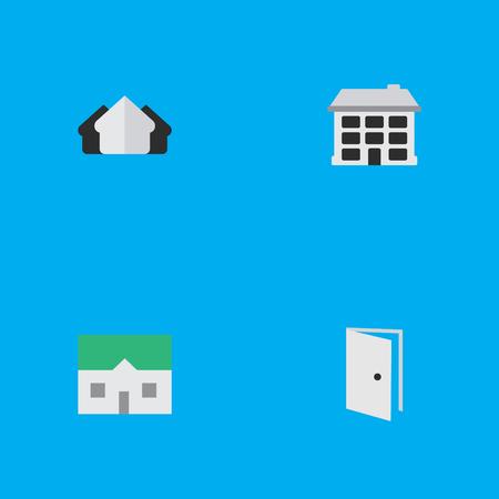 他の同義語の家、プロパティ エントリ要素家オープンとエントリ。  イラスト・ベクター素材