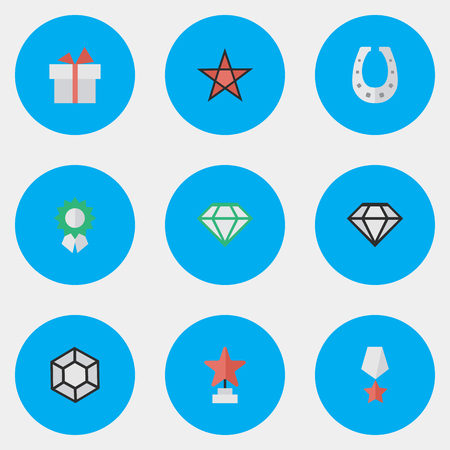 Elements Brilliant, First, Gemstone And Other Synonyms Medal, Diamond And Premium. 向量圖像