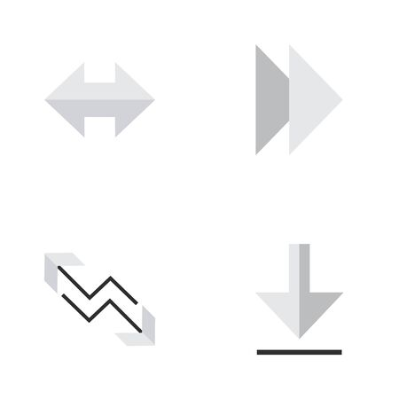 Vector Illustration Set Of Simple Cursor Icons. Elements Loading, Forward, and more.