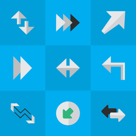 Vector Illustration Set Of Simple Arrows Icons. Elements Northwestward, Orientation, and more.