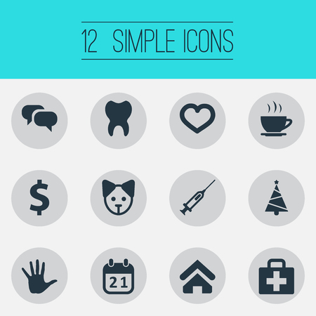 Vector Illustration Set Of Simple Brood Icons. Elements Dog, Money, and more. Illustration