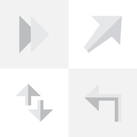 Elements Forward, Orientation, Cursor And Other Synonyms Southwestward, Next And Internet.  Vector Illustration Set Of Simple Cursor Icons. Ilustração
