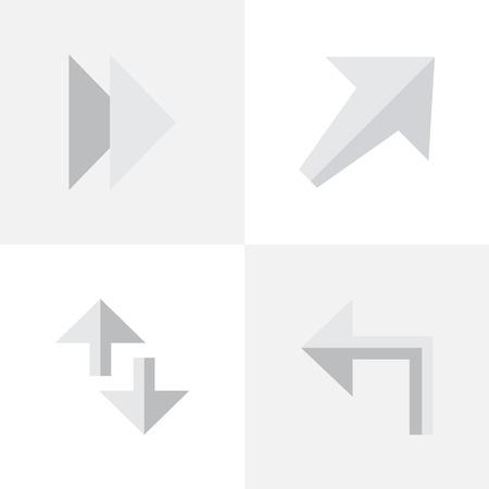 Elements Forward, Orientation, Cursor And Other Synonyms Southwestward, Next And Internet.  Vector Illustration Set Of Simple Cursor Icons. Illusztráció