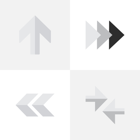 Elements Export, Onward, Upwards And Other Synonyms Backward, Forward And Ahead.  Vector Illustration Set Of Simple Cursor Icons.