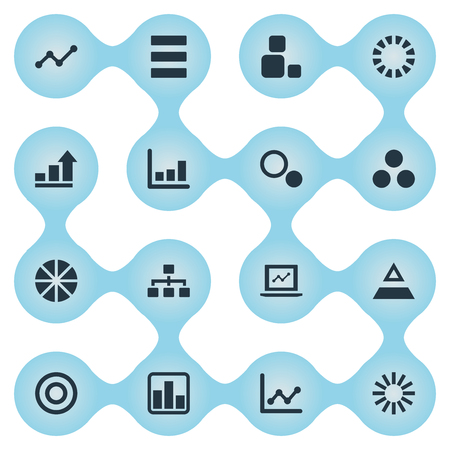 Set van eenvoudige diagram pictogrammen. Stock Illustratie