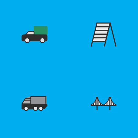 Set Of Simple Traffic Icons. Illustration