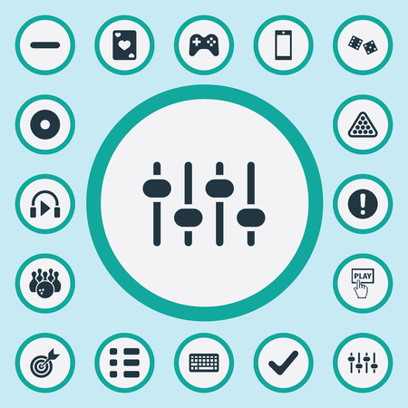dvd room: Elements Minus, Sound, Start And Other Synonyms Bowling, Tablet And Delete.  Vector Illustration Set Of Simple Leisure Icons.