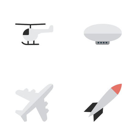 fuselage: Elements Aircraft, Bomb, Copter And Other Synonyms Chopper, Helicopter And Copter.  Vector Illustration Set Of Simple Airplane Icons.