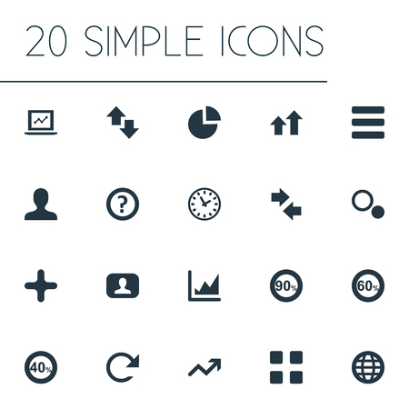 Set Of Simple Statistic Icons.