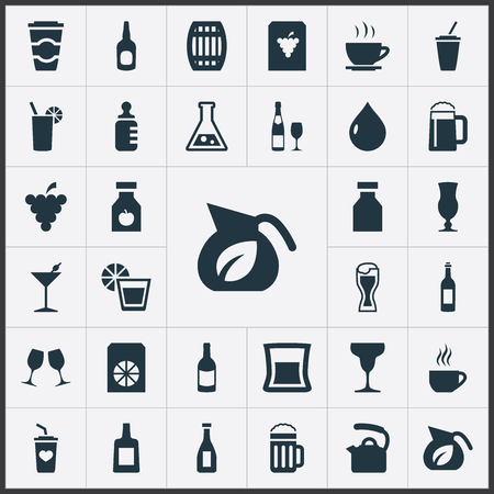 Set Of Simple Beverage Icons. Banco de Imagens - 84057286