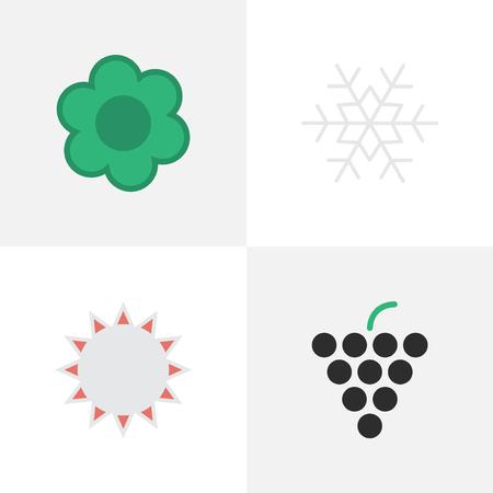 Set Of Simple Gardening Icons.