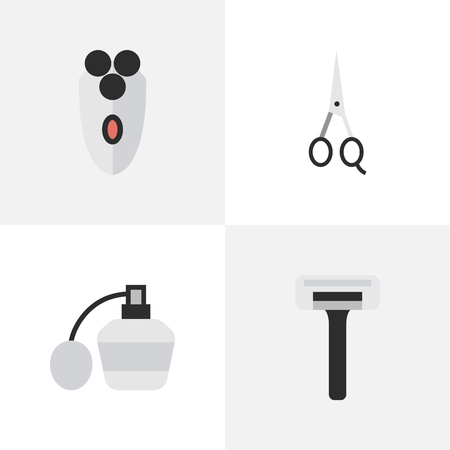 Set Of Simple Hairdresser Icons.