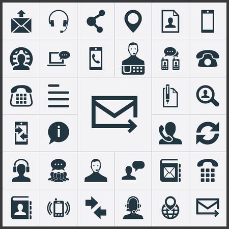 간단한 연락처 아이콘의 집합입니다.