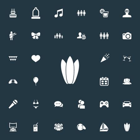 Set Of Simple Party Icons.