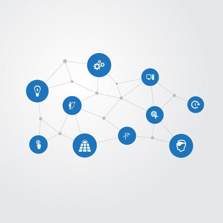 Set van eenvoudige uitvindingspictogrammen.