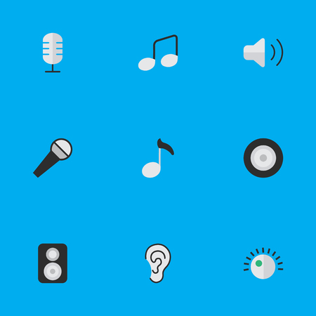 loudness: Set Of Simple Sound Icons. Illustration
