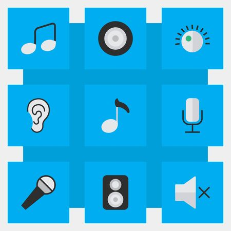 Set Of Simple Sound Icons. Ilustrace