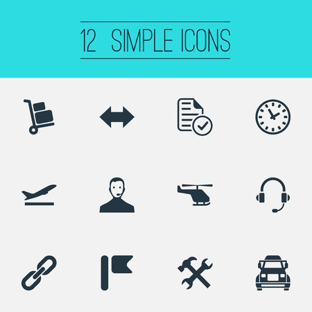 Set Of Simple Systematisation Icons. Ilustrace
