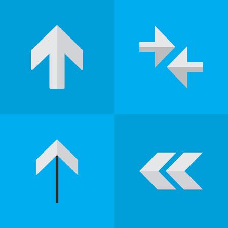 Satz einfache Zeiger-Ikonen. Standard-Bild - 84057508