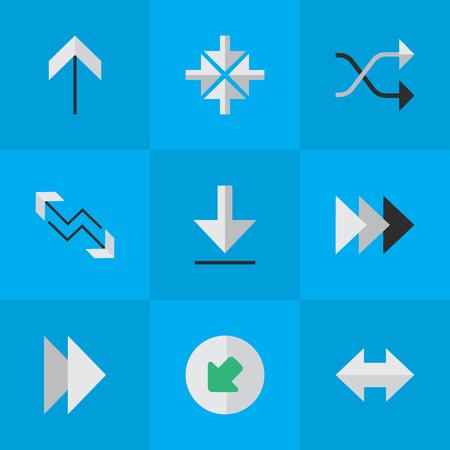 Ensemble d'icônes de pointeur simple. Banque d'images - 84057509