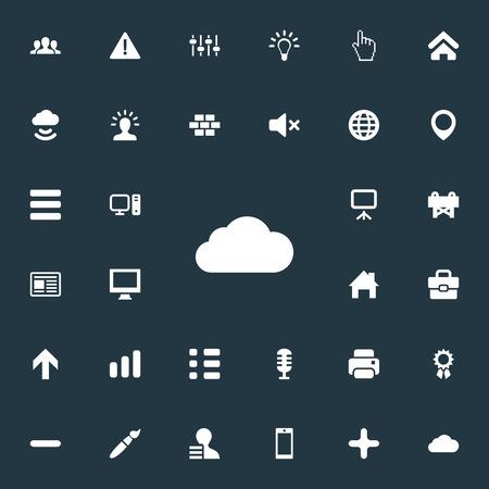 간단한 인터페이스 아이콘의 집합입니다.