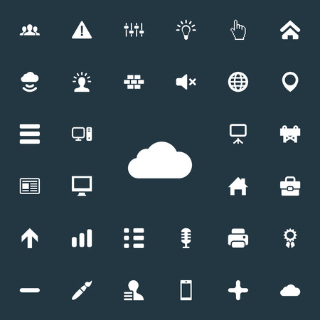 Set Of Simple Interface Icons.
