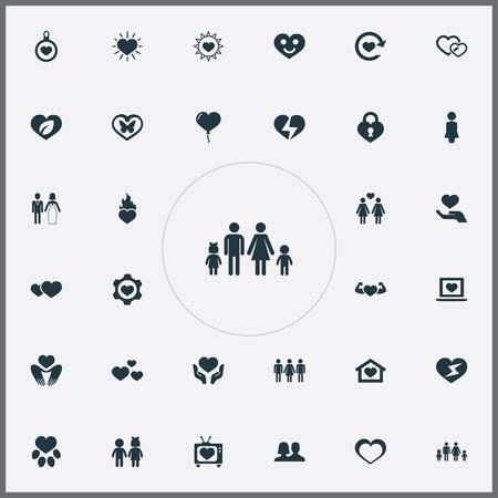 Conjunto de iconos de boda simples . Foto de archivo - 84057512