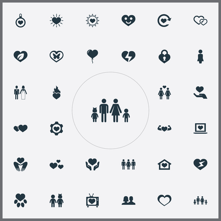 Set Of Simple Wedding Icons.