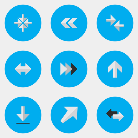 Conjunto de iconos de cursor simple. Ilustración de vector