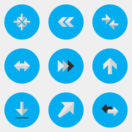 ensemble de simples icônes du curseur Vecteurs