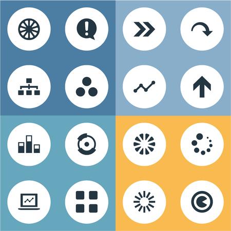 Elements Laptop, Veelvoudige, Stuk En Andere Synoniemen Process, Diagram En Cirkel.