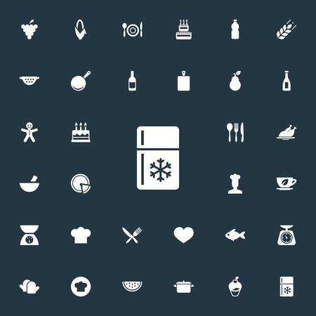 Conjunto de iconos de cocina simple Foto de archivo - 84057547