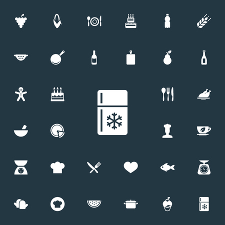 Set Of Simple Kitchen Icons Illustration