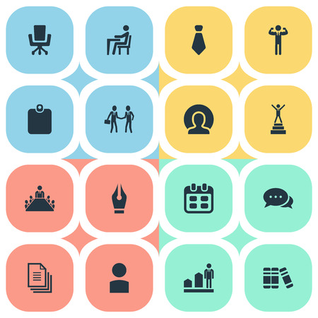 Elements Progress, Pen Nib, Files And Other Synonyms Identification, Advancement And Suit.  Vector Illustration Set Of Simple Human Icons.