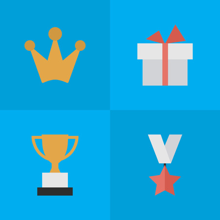 Set Of Simple Champion Icons.
