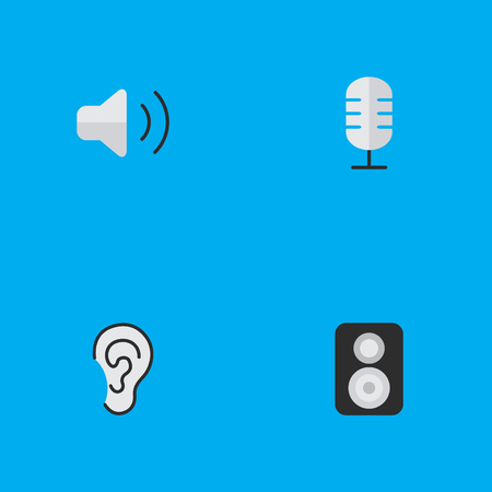 Set Of Simple Sound Icons. Illustration
