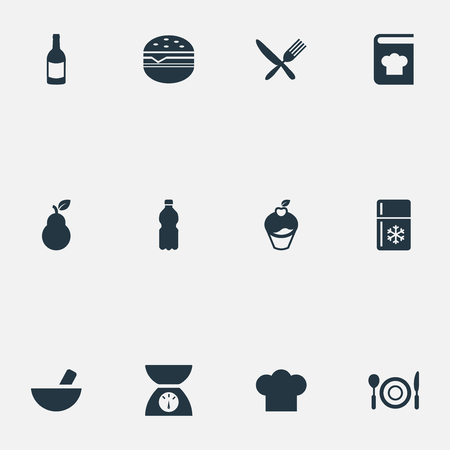 Set Of Simple Kitchen Icons.