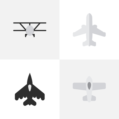 Set Of Simple Plane Icons.