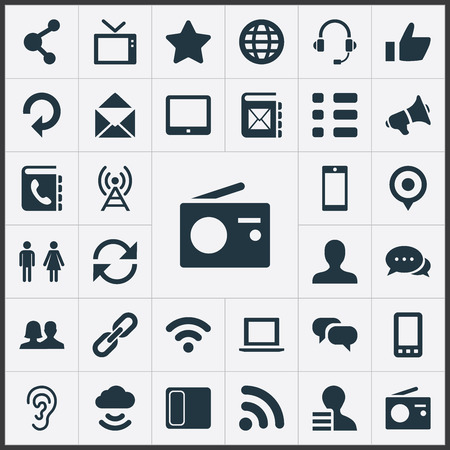 Set Of Simple Communication Icons.
