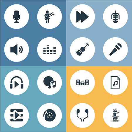 Set Of Simple Music Icons.