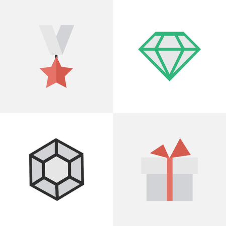 Set Of Simple Prize Icons.