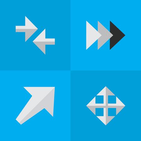 Ensemble de simples flèches icônes Banque d'images - 84057604