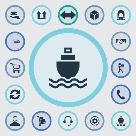 Set van eenvoudige logistiek iconen.