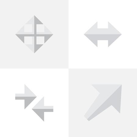 간단한 포인터 아이콘의 집합입니다. 일러스트