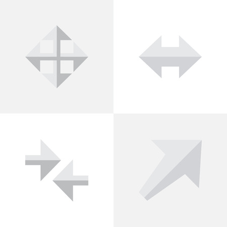 Set Of Simple Pointer Icons.