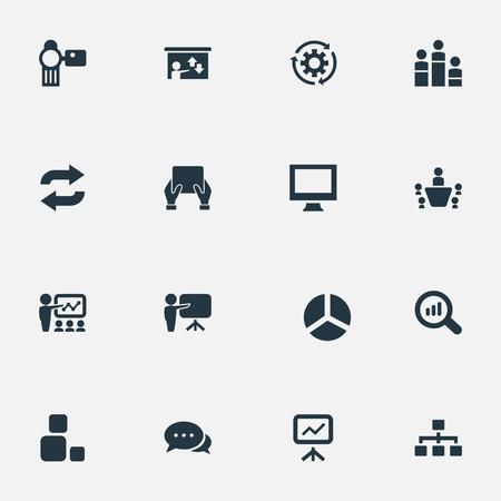 Set Of Simple Seminar Icons.